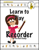 Learn to Play Recorder - 24 note songs - ebook