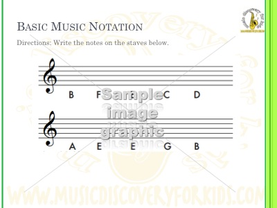 Write Treble Clef Notes - Version6 - Interactive Whiteboard