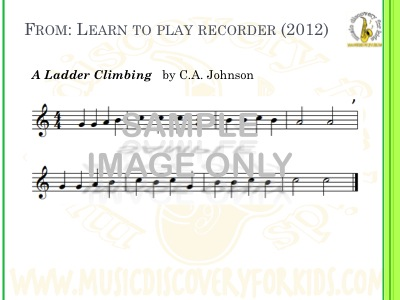 A Ladder Climbing - song from Learn to Play Recorder Songbook - Interactive Whiteboard