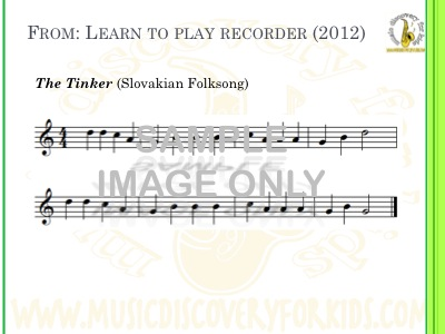 The Tinker - song from Learn to Play Recorder Songbook - Interactive Whiteboard